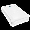 """RAIDSONIC IB-233U3-Wh :: USB 3.0 външна кутия 2.5"""" SATA HDD/SDD, до 9.5 мм дискове, бяла, със силиконов калъфия за"""