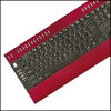 Saitek PK04AV :: Клавиатура Slimline Multimedia Keyboard, червена