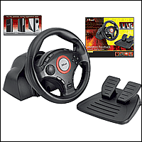Trust 16064 :: Кормило Compact Vibration Feedback Steering Wheel, PC-PS2-PS3, GM-3200