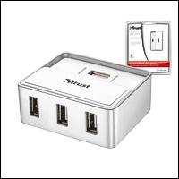 Trust 15919 :: 4-портов USB 2.0 Power хъб за MAC