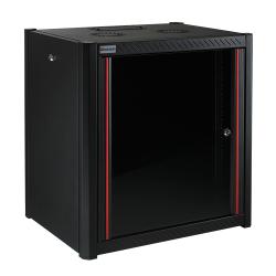 MIRSAN MR.WTN09U45.01 :: Сървърен шкаф за мрежово оборудване - 600 x 450 x 512 мм, D=450 мм / 9U, черен, за стена