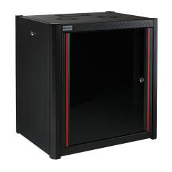 MIRSAN MR.WTN12U66.01 :: Wall Type NETWORK Cabinet - 600 x 600 x 645 mm / 12U, Black