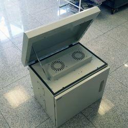 MIRSAN MR.MOB03.03 :: Шкаф за CCTV оборудване - 625 х 530 х 480 мм, IP65, двойни стени, 2 вентилатора, бял