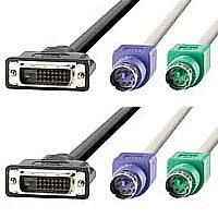 ROLINE 11.01.4755 :: ROLINE KVM кабел DVI M+PS/2 -- DVI M+PS/2, 4.5 м