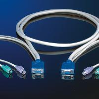 ROLINE 11.01.5469 :: KVM кабел, 1x HD15 M/F, 2x PS/2, M/M, (тип звезда), 10.0 м
