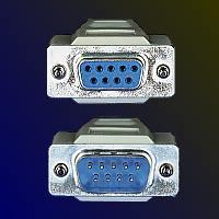 ROLINE 11.01.6260 :: RS-232 сериен кабел D9 M/F, 6.0 м, монолитен, 9 проводника, удължителен