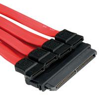 ROLINE 11.03.1585 :: ROLINE SAS кабел, 4x SATA, 0.5 м