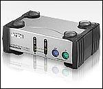 ATEN CS82A :: KVM превключвател, 2х 1, автом., PS2