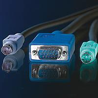 VALUE 11.99.5451 :: KVM кабел, 1x HD15 M/M, 2x PS/2 M/M, 3C+4, 1.8 м