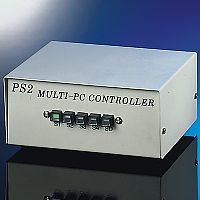 ROLINE 14.01.3315 :: Ръчен KVM Switch, 1x K/V/M PS/2 към 4x PCs, без К/М емулация