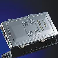 ROLINE 14.99.3294 :: Автоматичен KVM Switch, 1x User към 4x PCs, пластмасов, без захранване, Pocket