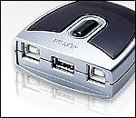ATEN US221 :: периферен превключвател, 2x 1, USB (2 PC поделят едно USB у-во)