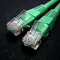 ROLINE 21.15.0563 :: UTP Patch кабел Cat.5e, 5.0 м, AWG24, зелен цвят