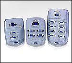 ATEN VS84 :: Compact видео сплитер, 4x 1, 150 MHz, 65 м