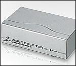 ATEN VS92A :: видео сплитер, 2x 1, 350 MHz, метален, 65 м