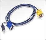 ATEN 2L-5203UP :: KVM кабел, HD15 M + USB type A M >> SPHD15 M, 3.0 м