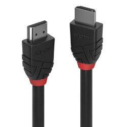 LINDY 36472 :: Кабел HDMI 2.0 Black Line, 4K, 60Hz, 30 AWG, 2m