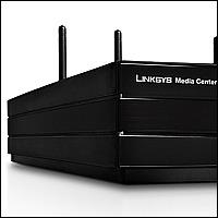 Linksys DMA2200 :: Media Center екстендър с DVD плейър, 802.11n + 802.11a