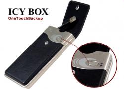 """Raidsonic IB-282U-OT :: Външна кутия за 2.5"""" IDE HDD, кожена обшивка, бутон """"One Touch Backup"""", USB 2.0 интерфейс"""