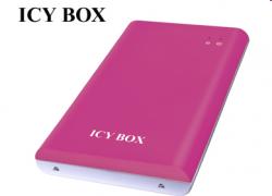 """Raidsonic IB-221StU-P :: Външна кутия за 2.5"""" SATA HDD, гумирано Soft-Skin покритие, USB 2.0 интерфейс, розова"""