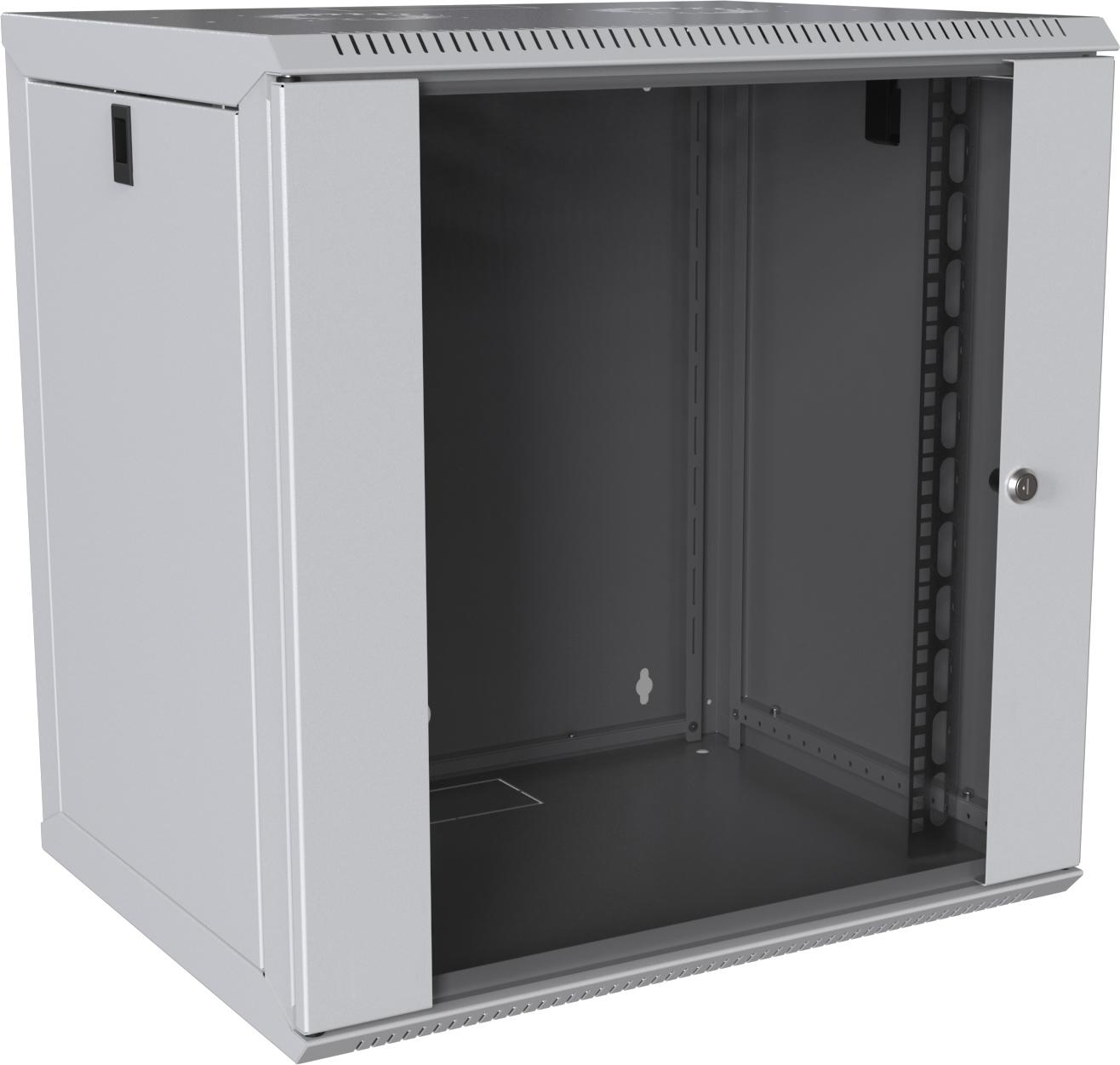 MIRSAN MR.WTC09U45DE.02 :: Сървърен шкаф за мрежово оборудване - 565x445x450 мм, D=450 мм / 9U, бял, за стена, Разглобен