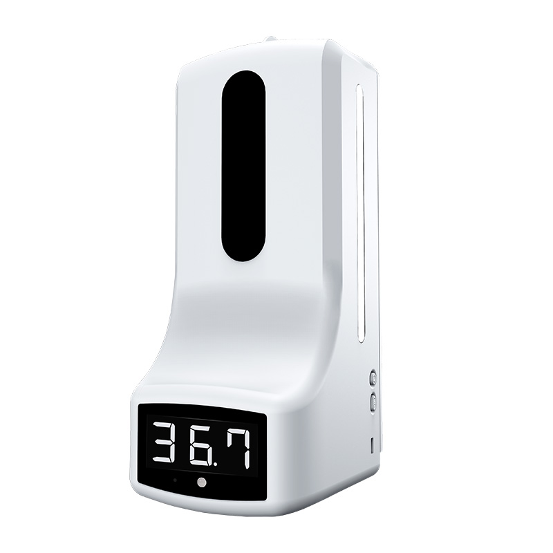 Диспенсър за дезинфекция с вграден термометър