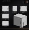 MIRSAN MR.IP55W12U45.02 :: IP55 Outdoor сървърен шкаф - 600 x 450 x 630 мм, D=450 мм / 12U, 100 кг товар, бял, за стена