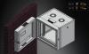 MIRSAN MR.EKG09U.01 :: Double-Section модул за мрежов шкаф за стена - 600 x 150 x 512мм / 9U, черен