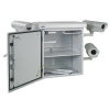 MIRSAN MR.MOB01.03 :: Шкаф за CCTV оборудване - 615 х 477 х 705 мм / 15U, двойни стени, 2 вентилатора, бял