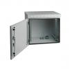 MIRSAN MR.IP55W07U45.02 :: IP55 Outdoor сървърен шкаф - 600 x 450 x 410 мм, D=450 мм / 7U, 100 кг товар, бял, за стена