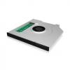 RAIDSONIC IB-AC647 :: Монтажен адаптор за M.2 SSD в DVD гнездо на лаптоп и охладител, за 9.5 мм