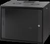 MIRSAN MR.WTC09U45DE.01 :: Сървърен шкаф за мрежово оборудване - 540 x 440 x 450 мм, D=450 мм / 9U, черен, за стена, Разглобен
