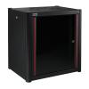MIRSAN MR.WTN16U66.01 :: Сървърен шкаф за мрежово оборудване - 600 x 600 x 823 мм, D=600 мм / 12U, черен, за стена