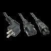 LINDY 30047 :: Захранващ Y-образен кабел, 1 x Schuko към 1 x C13 и 1 x C5, 2m
