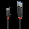 LINDY 36916 :: Kабел USB 3.1 Type A към Type C, M-M, Black Line 1m
