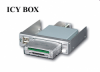 """Raidsonic IB-801 :: Четец за карти с докинг станция за 3.5"""" гнездо, сребрист цвят"""