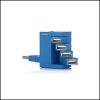 Saitek PZ39Ab :: USB хъб Flexible Smart, 4 порта, син цвят