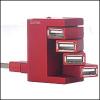 Saitek PZ39Ar :: USB хъб Flexible Smart, 4 порта, червен цвят